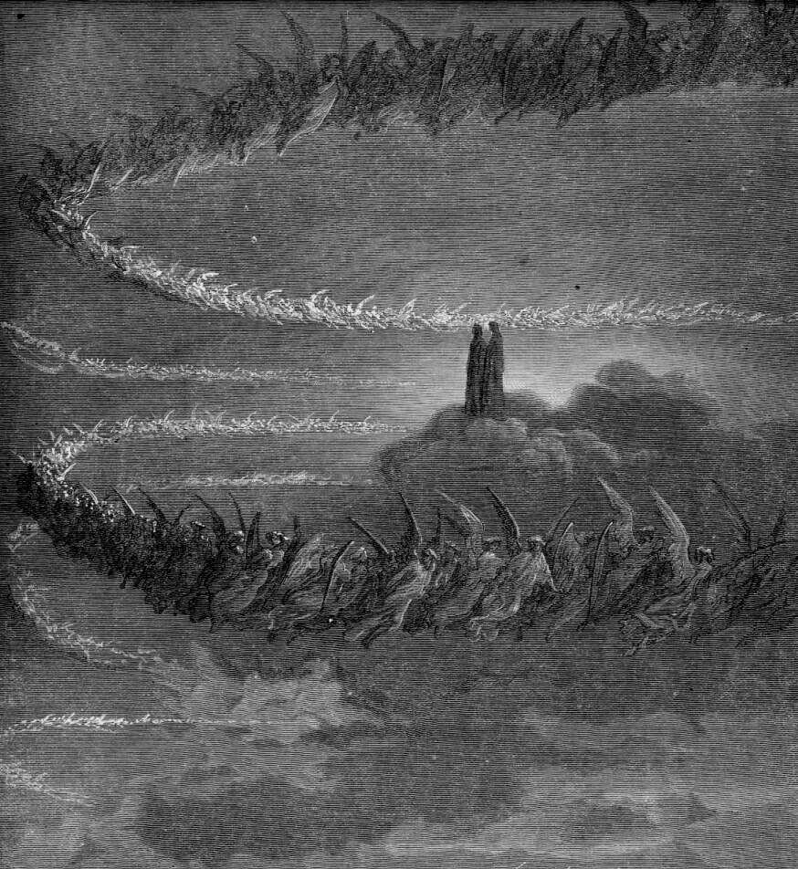 divine comedy At the age of thirty-five, on the night of good friday in the year 1300, dante finds himself lost in a dark wood and full of fear he sees a sun-drenched mounta.
