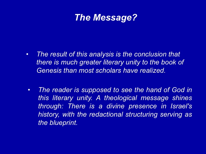 Genesis as literature lesson 9 the result of this analysis is the conclusion that there is much greater literary unity to the book of genesis than most scholars have realized malvernweather Image collections